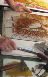 Preparing a monotype